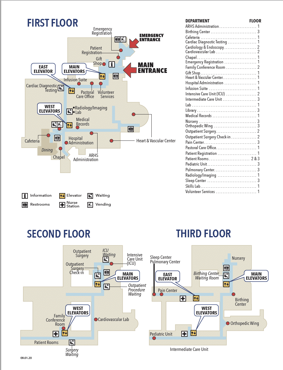 Watauga Medical Center Floor Map