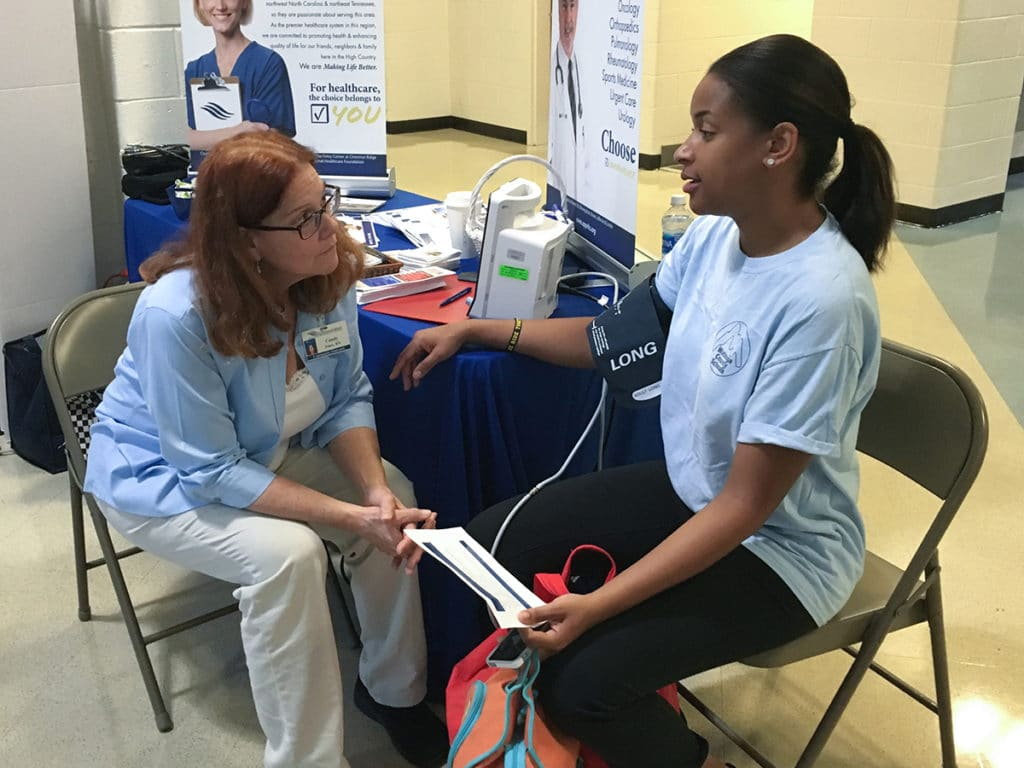 Candy Jones - Watauga County Schools Health Fair
