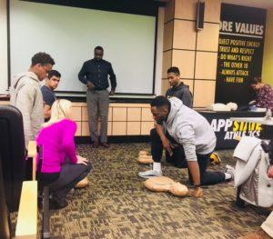 ASU Athletes CPR Training