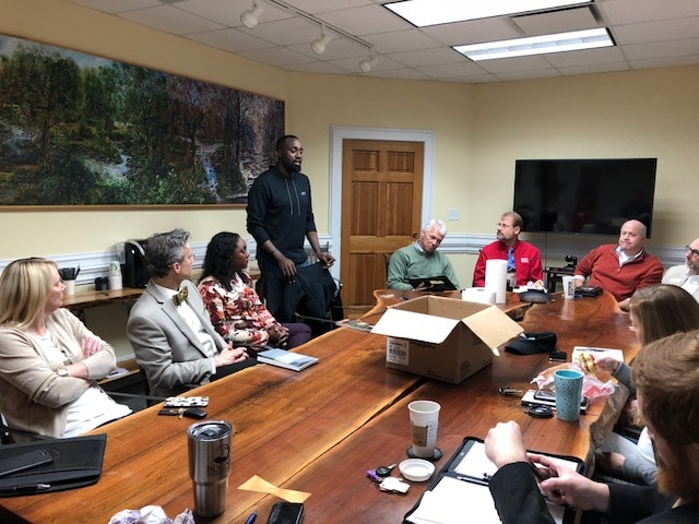 Omar Carter and Boone Chamber