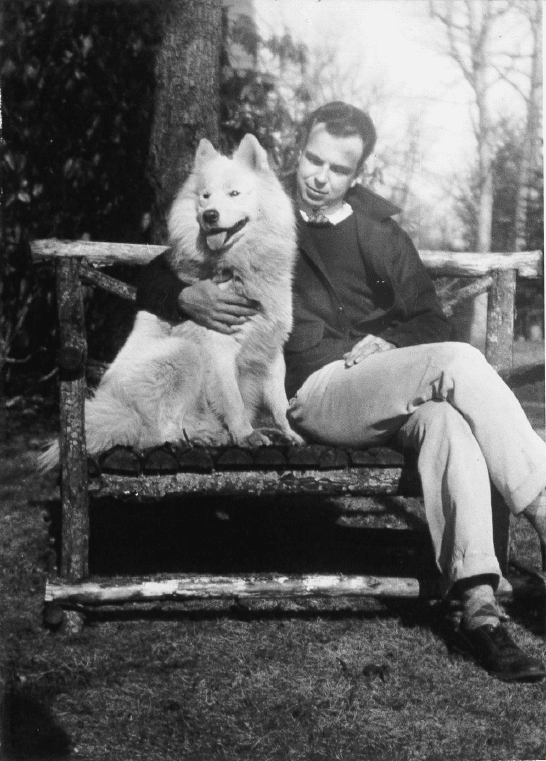 Robert Morrison with his dog.