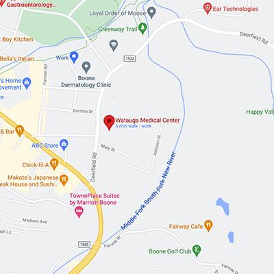 Image: Watauga Medical Center Map