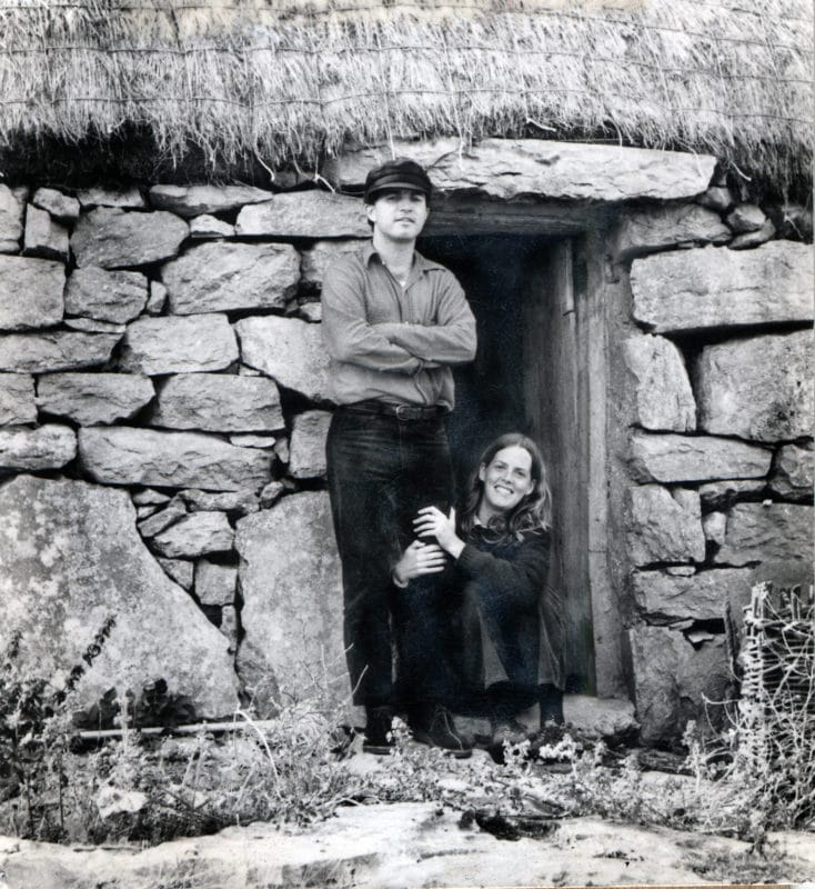 Photo: Charlie and Ann on the Island of Innishmann