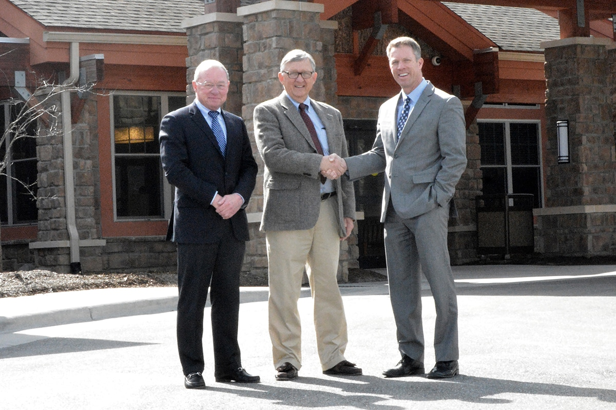 From Left: Sandy McNeill, Ronnie McNeill, (Principals, Liberty Senior Living) and Chuck Mantooth (President and CEO, Appalachian Regional Healthcare System)