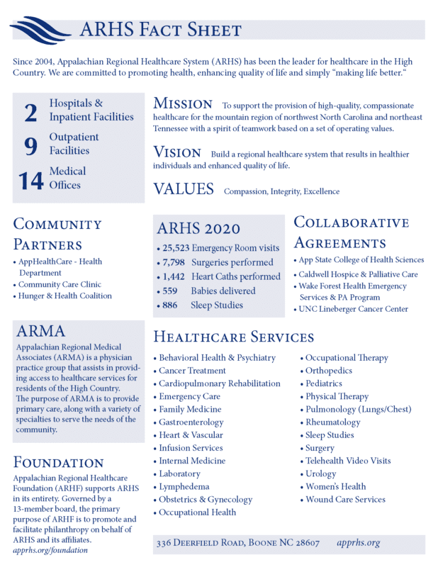ARHS Fact Sheet