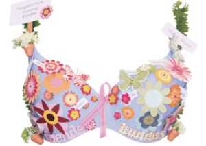 Photo: Flower theme Bras for a Cause
