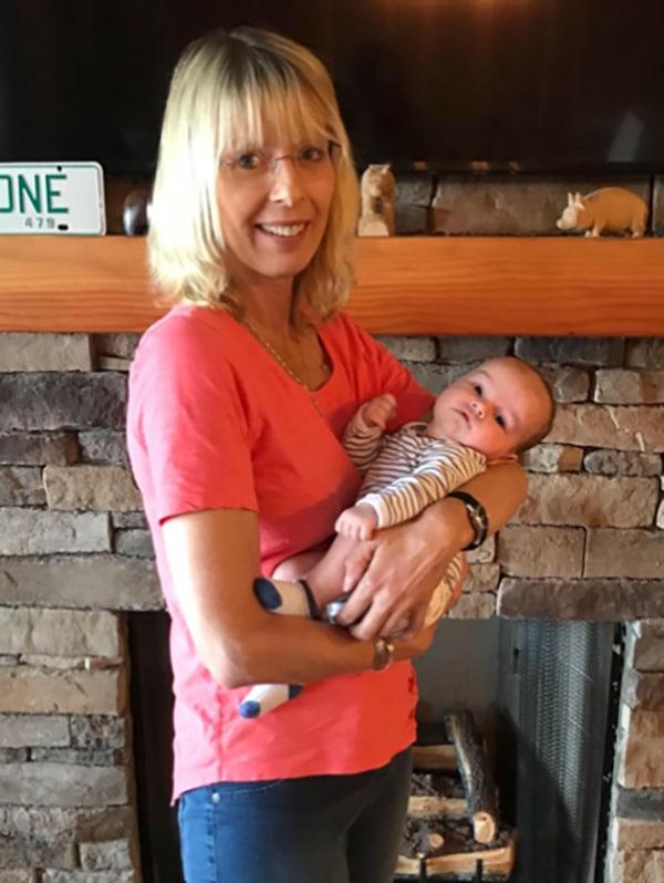 Photo: Donna and grandson Wyatt