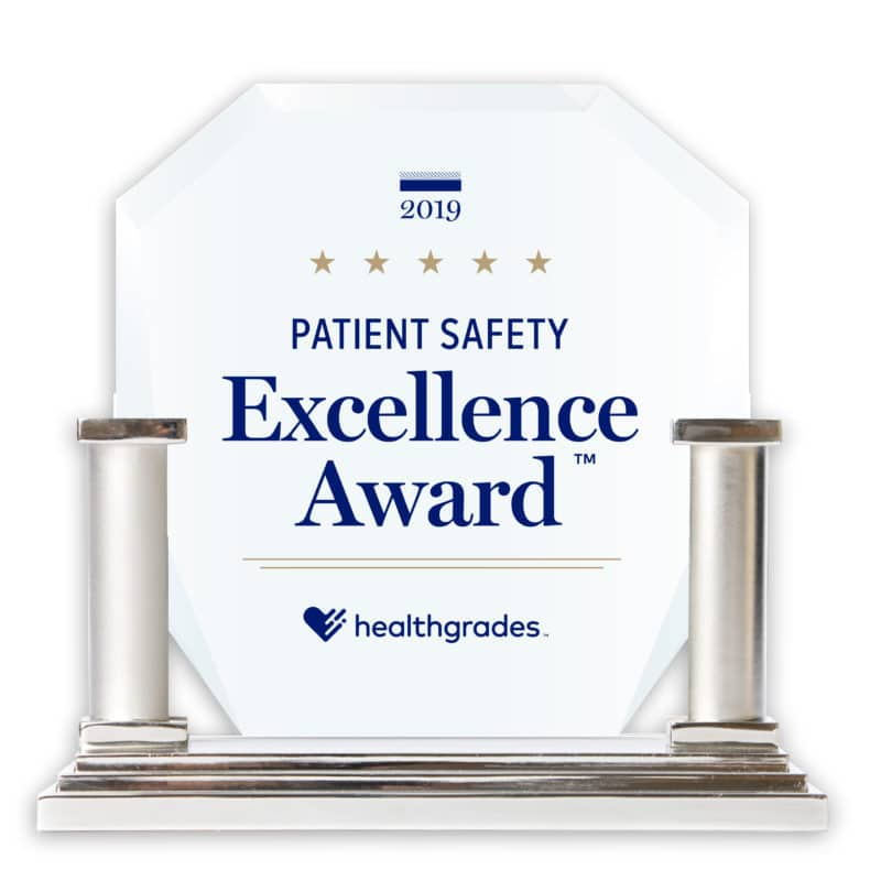 Healthgrades Patient Safety Award Image 2019