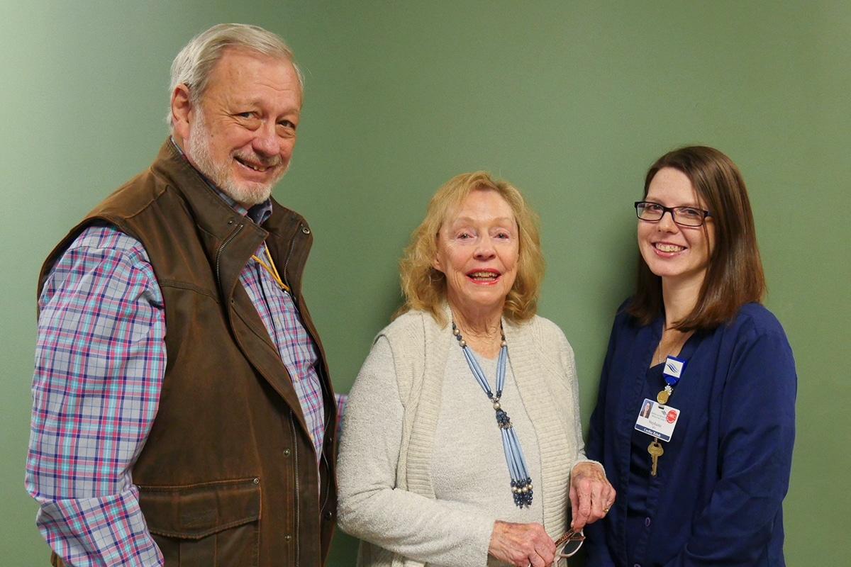 Photo: Fred Fance, Betty Redman, Stephanie Platt