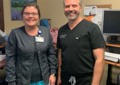 Image: Dr. Anderson after telehealth visit