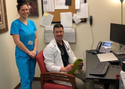 Image: Dr. Price after Telehealth visit