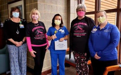 The Rehabilitation Center in Boone receives donation for breast cancer treatment