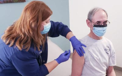 The first COVID-19 vaccines administered at Watauga Medical Center