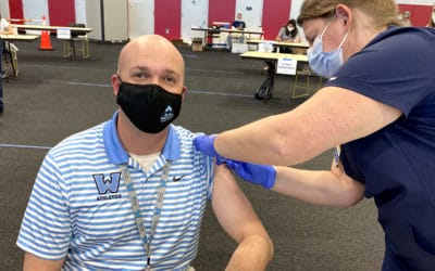Watauga County Schools teachers and staff receive COVID-19 vaccine at mass clinic in Boone