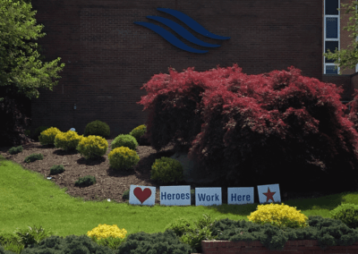 Image: Heroes Work Here Sign at WMC