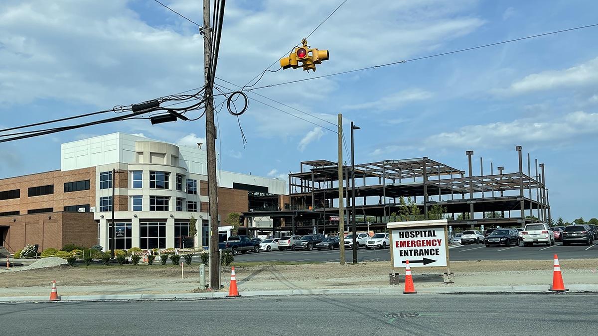 Watauga Medical Center Construction Aug 9