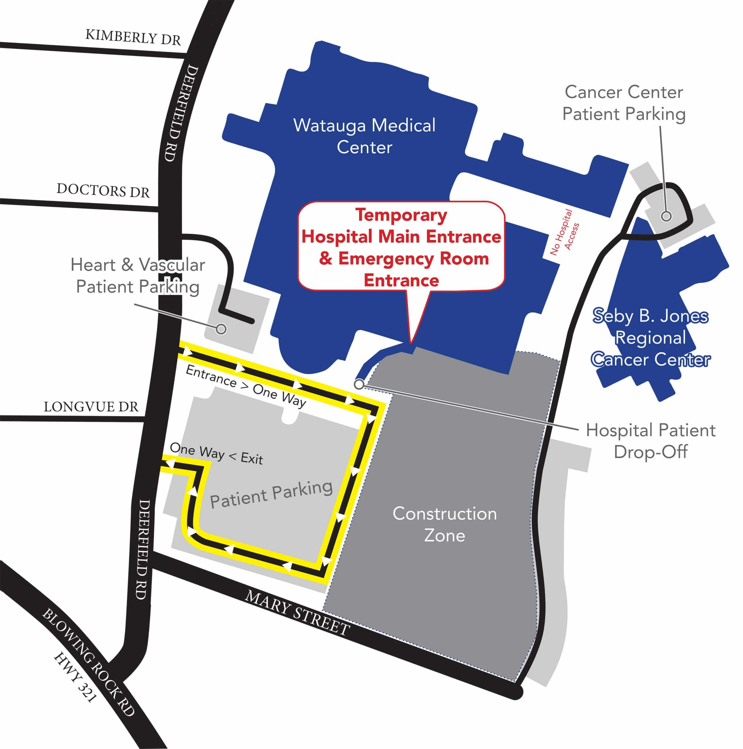 Patient Parking Map