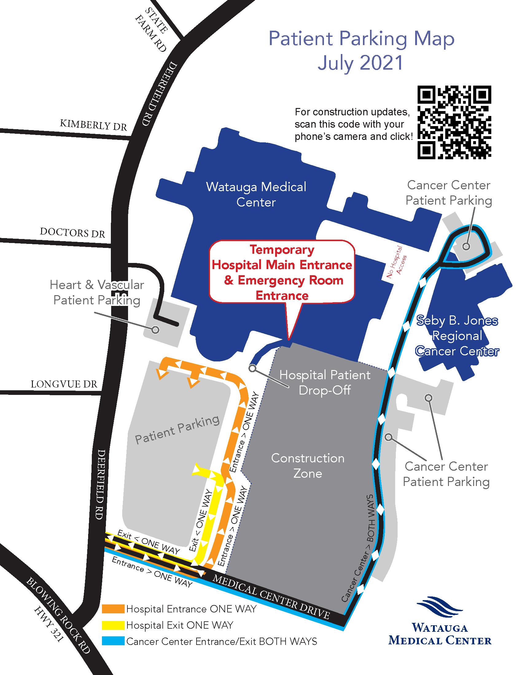 Watauga Medical Center Parking Map