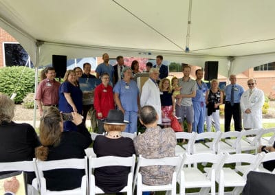 Group Photo at Schaefer Family Patient Care Tower Groundbreaking