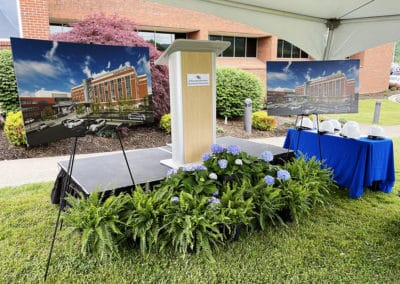 The stage at Schaefer Family Patient Care Tower Groundbreaking