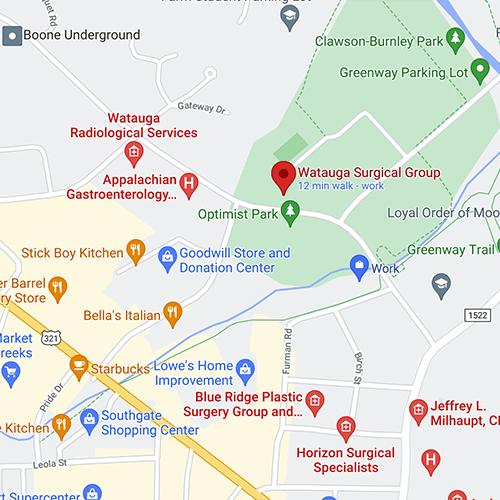 Watauga Surgical Group Google Map